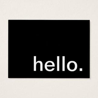 hallo. wie tun wir? visitenkarte