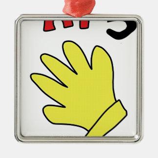 hallo zeichnen 5 Handhandschuh Silbernes Ornament