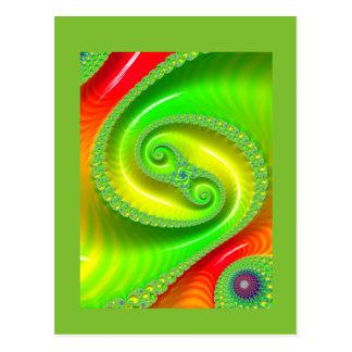 Hallo zu Ihnen. Heitres Grün Postkarten