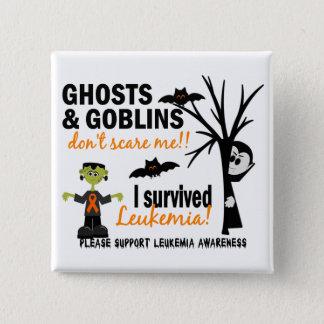 Halloween 1 Leukämie-Überlebender Quadratischer Button 5,1 Cm