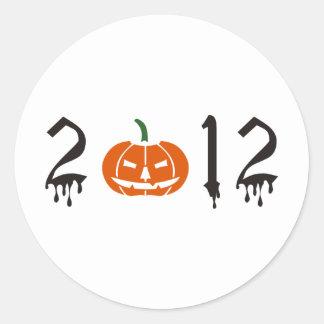 Halloween 2012 runder aufkleber