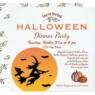 Halloween-Abendessen-Party Einladung Karte