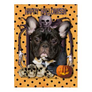 Halloween-Albtraum - französische Bulldogge - Postkarte