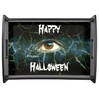 Halloween-Augen-großes Serviertablett, schwarz Serviertablett
