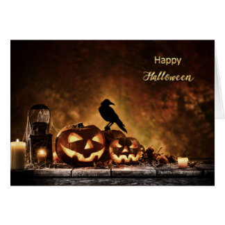 Halloween - beängstigende Halloween-Szene Karte