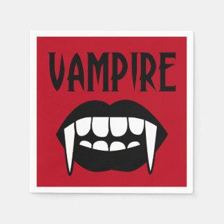 HALLOWEEN beängstigende rote Vampire-Zahn-u. Servietten
