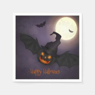 Halloween - beängstigender Kürbis-Schläger - alle Papierserviette