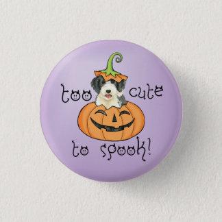 Halloween Beardie Runder Button 3,2 Cm