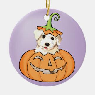 Halloween Bichon Keramik Ornament