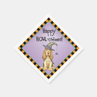 Halloween-Bluthund Papierserviette