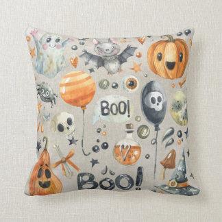 Halloween - Boowatercolor-Süssen Kissen