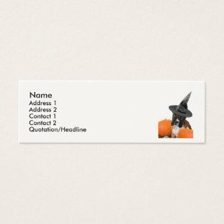 Halloween-Boxer-Welpe Mini Visitenkarte