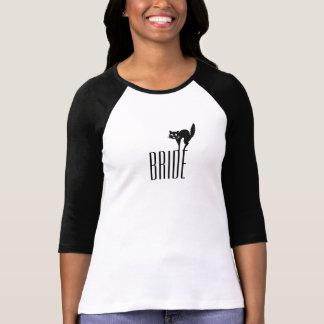 Halloween-Braut-Shirt - schwarze Katze T-Shirt