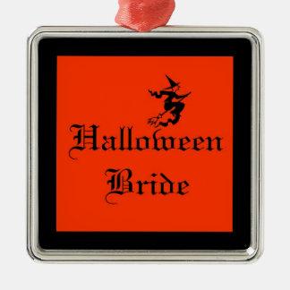 Halloween-Braut-Verzierung mit Hexe Silbernes Ornament