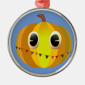 Halloween-Cartoon-Weihnachtskürbis Silbernes Ornament