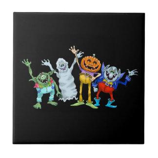 Halloween-Cartoongeschöpfwellenartig bewegen Keramikfliese