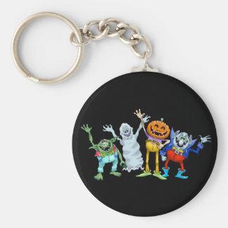 Halloween-Cartoongeschöpfwellenartig bewegen Schlüsselanhänger