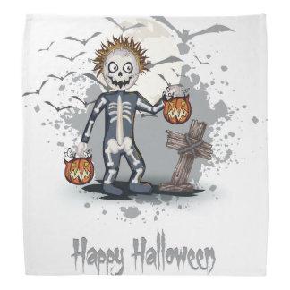 Halloween-Cartoonzombie im Kirchhof Kopftuch