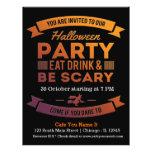 Halloween-Cocktail (Hintergrundfarbe kann Änderung 21,6 X 27,9 Cm Flyer
