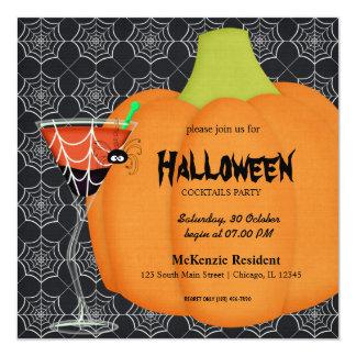 Halloween-Cocktail-Party Quadratische 13,3 Cm Einladungskarte