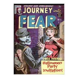 Halloween-Comic-Einladung