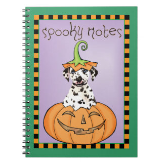 Halloween-Dalmatiner Spiral Notizblock