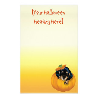 Halloween Dashund Welpe-Boo stationery_vertical… Briefpapier