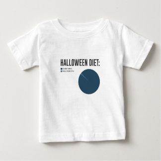 Halloween-Diät-Süßigkeitens-Leckereien und Baby T-shirt