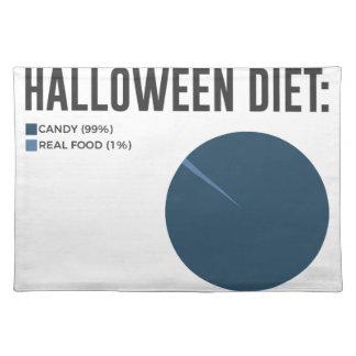 Halloween-Diät-Süßigkeitens-Leckereien und Tischset