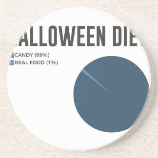 Halloween-Diät-Süßigkeitens-Leckereien und Untersetzer
