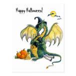 Halloween-Drachepostkarte