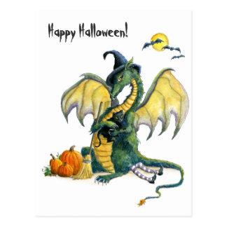 Halloween-Drachepostkarte Postkarte