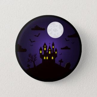 Halloween - Draculas Schloss-Knopf Runder Button 5,1 Cm