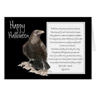 Halloween, Edgar Allen Poe, Rabe, nie wieder Karte