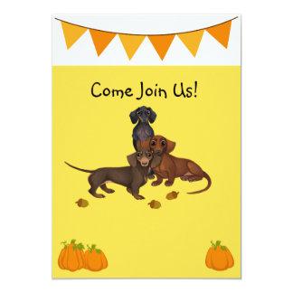 Halloween-Einladungs-Dackel-Party Einladungen