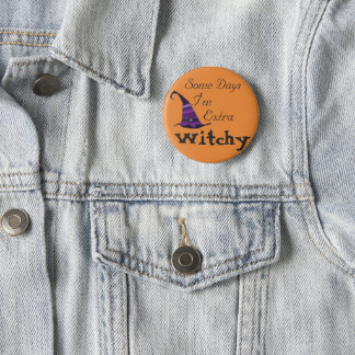 Halloween ExtraWitchy Runder Button 5,7 Cm