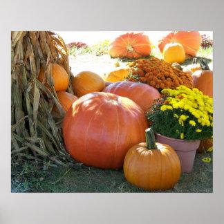 Halloween-Fall-Szene Poster