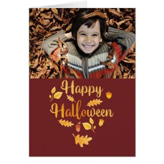 Halloween faltete Foto-Gruß-Karte Karte
