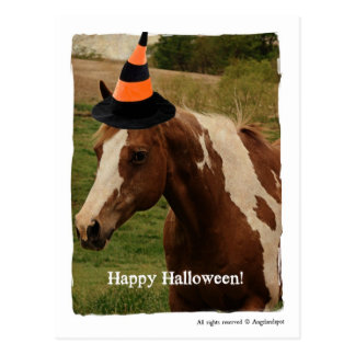 Halloween-Farben-Pferd Postkarten