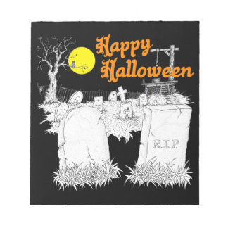 Halloween-Friedhof Notizblock