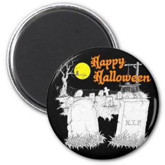 Halloween-Friedhof Runder Magnet 5,1 Cm