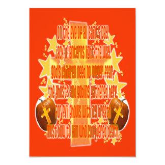 Halloween für Christen (Gedicht) 12,7 X 17,8 Cm Einladungskarte