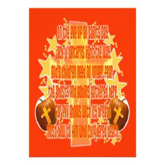 Halloween für Christen Gedicht Personalisierte Ankündigungskarte