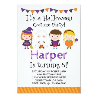 Halloween-Geburtstag Einladung, Kostüm-Party Karte