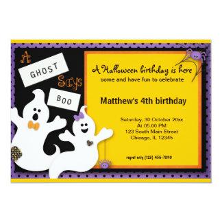 Halloween-Geburtstag Karte