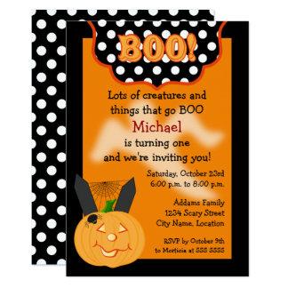 Halloween-Geburtstags-Einladung Karte
