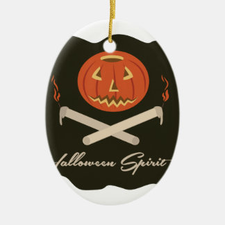 Halloween-Geist-Flagge Keramik Ornament