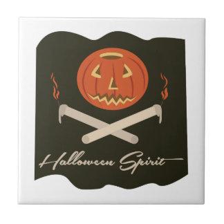 Halloween-Geist-Flagge Keramikfliese