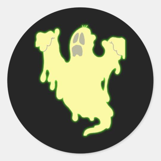 halloween Geist Gespenst ghost Runder Aufkleber