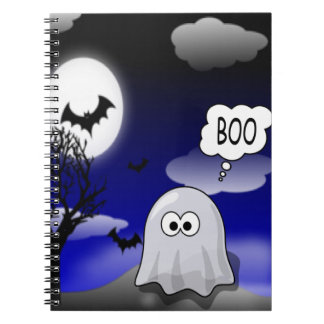 Halloween-Geist Spiral Notizblock